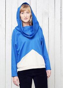 Eisberg hoodie blue - TRECHES