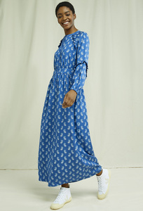 Tencel Maxi Kleid - V&A Neha Print Maxi Dress - People Tree