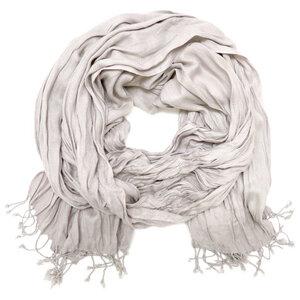Schal einfarbig aus Viskose mit Fransen - accessu