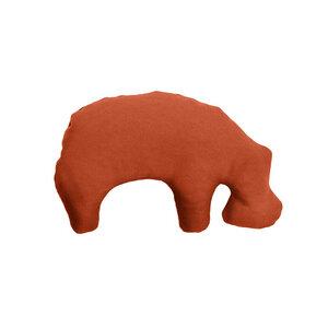 Öko-Hundespielzeug Kleines Nilpferd aus Granada mit Bio-Dinkelfüllung - Grüne Pfote®