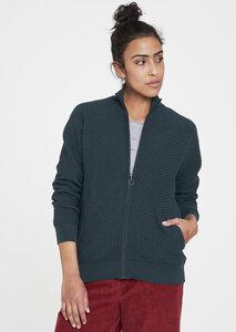 Damen Strickjacke aus Bio Baumwolle dunkelgrün | Knit Jacket recolution - recolution