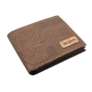 Vegane Geldbörse für Herren Kork Portemonnaie mit RFID Schutz in Braun - Veggees