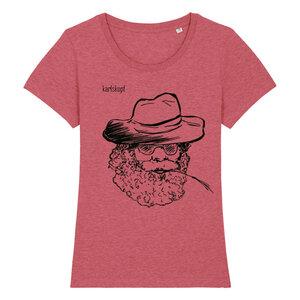 Bedrucktes Damen T-Shirt -classic- aus Bio-Baumwolle FARMER - karlskopf