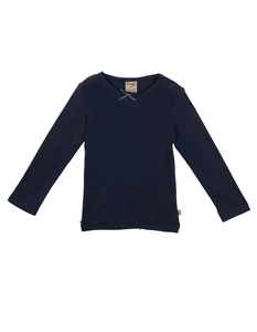 Mia Pointelle Top Navy - Frugi