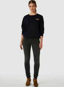 Juno Mid Rise Slim Gorbi Black Worn - Kings Of Indigo