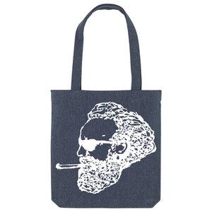 Bedruckte Shopper Tasche aus recycelter Baumwolle ROCKER - karlskopf