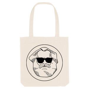 Bedruckte Shopper Tasche aus recycelter Baumwolle LOGO - karlskopf