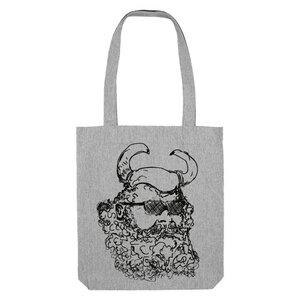 Bedruckte Shopper Tasche aus recycelter Baumwolle WIKINGER - karlskopf
