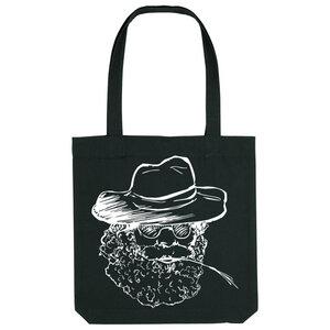 Bedruckte Shopper Tasche aus recycelter Baumwolle FARMER - karlskopf