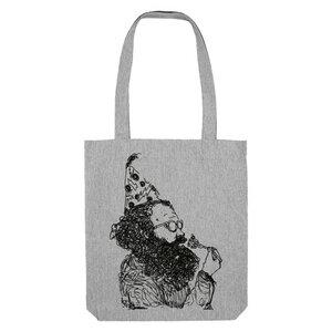 Bedruckte Shopper Tasche aus recycelter Baumwolle KAFFEEKLATSCH - karlskopf