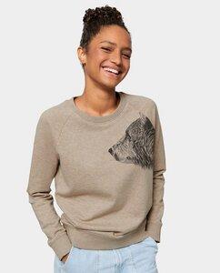 Damen Pullover Sand Bär - Kommabei