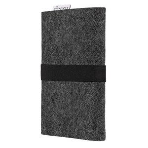 Handyhülle AVEIRO für Apple iPhone - 100% Wollfilz - anthrazit - flat design by Mareike Kriesten
