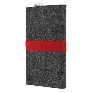 Handyhülle AVEIRO für Apple iPhone - 100% Wollfilz - dunkelgrau - flat.design