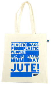 Jutetasche -  Plastic bags for plastic people - Hydrophil
