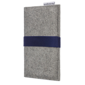 Handyhülle AVEIRO für Fairphone - 100% Wollfilz - grau - flat design by Mareike Kriesten