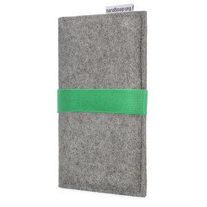 Handyhülle AVEIRO für Fairphone - 100% Wollfilz - hellgrau - flat.design