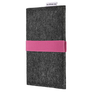 Schutzhülle AVEIRO für Handys - 100% Wollfilz - dunkelgrau => genaues Modell bei der Bestellung angeben - flat.design