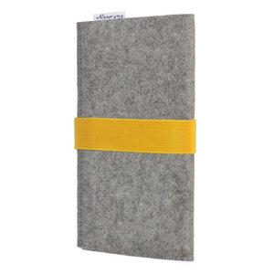 Handyhülle AVEIRO für Huawei P-Serie - 100% Wollfilz - grau - flat design by Mareike Kriesten