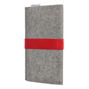 Handyhülle AVEIRO für Huawei P-Serie - 100% Wollfilz - hellgrau - flat.design
