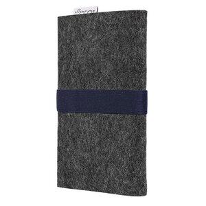 Handyhülle AVEIRO für Huawei P-Serie - 100% Wollfilz - dunkelgrau - flat.design