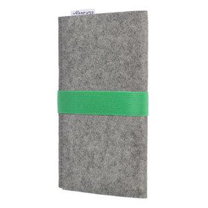 Handyhülle AVEIRO für Huawei Mate-Serie - 100% Wollfilz - hellgrau - flat.design