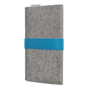 Handyhülle AVEIRO für Samsung Galaxy A-Serie - 100% Wollfilz - hellgrau - flat.design