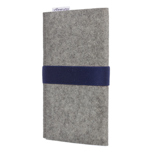 Handyhülle AVEIRO für Samsung Galaxy A-Serie - 100% Wollfilz - grau - flat design by Mareike Kriesten
