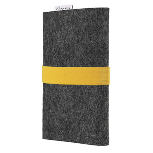 Handyhülle AVEIRO für Samsung Galaxy M-Serie - 100% Wollfilz - dunkelgrau - flat.design
