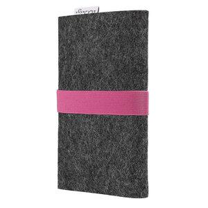 Handyhülle AVEIRO für Samsung Galaxy M-Serie - 100% Wollfilz - dunkelgrau - flat design by Mareike Kriesten
