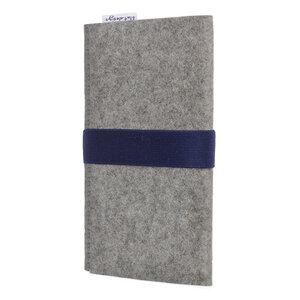 Handyhülle AVEIRO für Samsung Galaxy M-Serie - 100% Wollfilz - hellgrau - flat.design