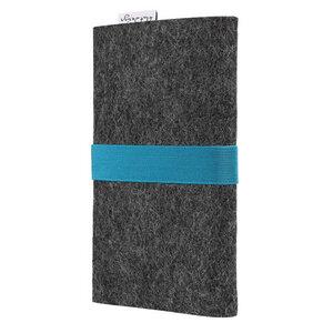 Handyhülle AVEIRO für Samsung Galaxy Note - 100% Wollfilz - dunkelgrau - flat design by Mareike Kriesten