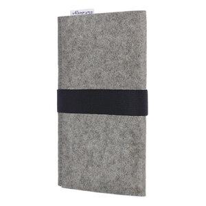 Handyhülle AVEIRO für Samsung Galaxy S-Serie - 100% Wollfilz - hellgrau - flat design by Mareike Kriesten