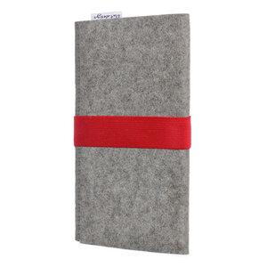 Handyhülle AVEIRO für Samsung Galaxy S-Serie - 100% Wollfilz - hellgrau - flat.design