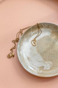 """Halskette """"KORA"""" aus Messing mit Herz - ALMA -Faire Streetwear & Schmuck-"""