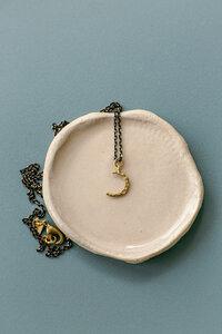 """Kette """"MOONLOVER"""" gehämmerter Mond, 2 Farben aus Messing - ALMA -Faire Streetwear & Schmuck-"""