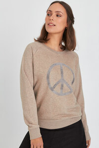 Reine Bio-Baumwolle & Upcycling - Sweater/ Peace - Kultgut