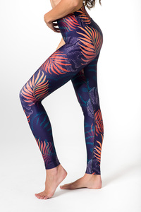 Yoga Leggings NIGHT ON BALI Damen Yogahose aus komfortablen Stretchmaterial - Yoga Hero