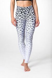 Yoga Leggings WHITE LEOPARD Damen Yogahose aus komfortablen Stretchmaterial - Yoga Hero