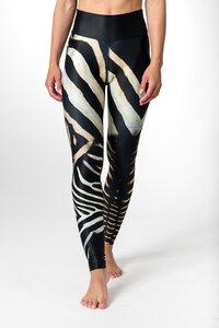 Yoga Leggings ZEBRA Damen Yogahose aus komfortablen Stretchmaterial - Yoga Hero