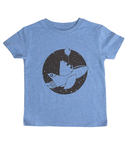 päfjes - Ronny Rakete / Astronaut - Fair Wear Bio Kinder T-Shirt - Blau - päfjes