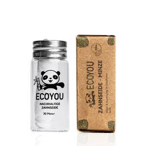 Vegane Zahnseide im plastikfreien Glasflakon - 30 Meter - Minzgeschmack - EcoYou