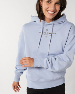 Kuscheliger Hoodie innen flauschig - Live with the sun. Love with the moon. - Kultgut