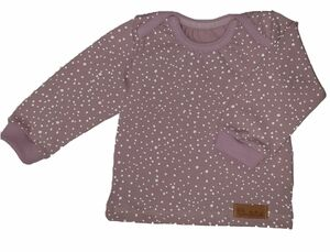 Babyshirt aus Biojersey weiße Punkte - Omilich