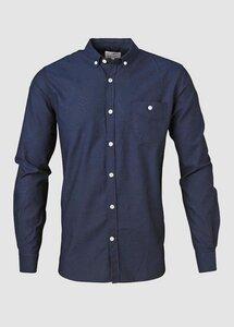 Button Down Oxford Shirt Total Eclipse - KnowledgeCotton Apparel