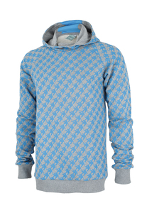 Grey Hoodie - Blue Elephants - MEN - Ken Panda