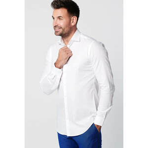 Nachhaltige Langarm Herren Hemd  Serious White Oxford Slim Fit  - SKOT Fashion