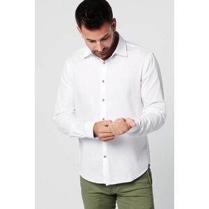Nachhaltige Langarm Herren Hemd  White Fun Slim Fit Bio Baumwolle - SKOT Fashion