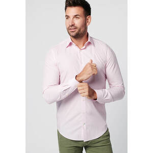 Nachhaltige Langarm Herren Hemd Apple und Pink Business  - SKOT Fashion