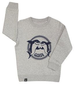 Flossen Hai Five - Hai - Fair Wear Kinder Sweater - grau - päfjes