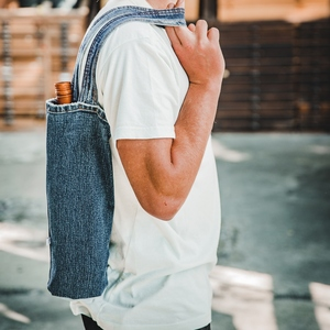skarabea - Flaschentasche - Jeans Upcycling - skarabea